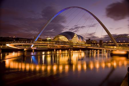 Newcastle Gateshead Quayside and Sage Gateshead