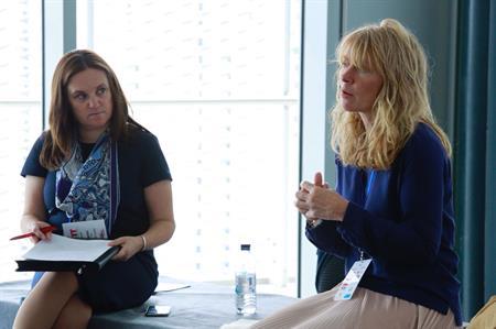 Karen Rice and Sarah Cox debate talent management at C&IT's Agency Forum