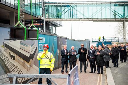 VIP guests at the topping out ceremony