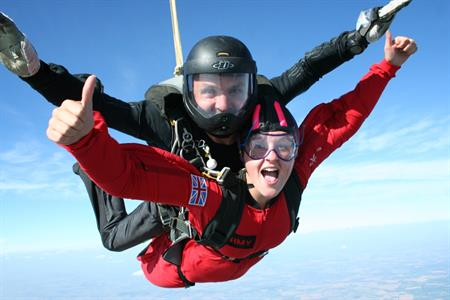 Office workers keen to try exciting activities, such as skydiving