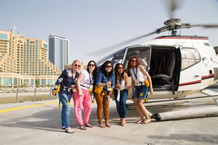 Helicopter tour from Fairmont Ajman at Global Meeting Exchange
