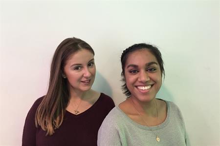 Nina Callaghan and Nadisha Jayatissa