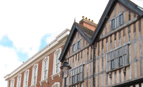 Bromsgrove Town Conservation Area is made up of 18th and 19th century buildings.