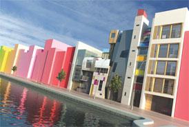 Tutti Frutti: first Urban Splash self-build scheme, situated in New Islington, Manchester