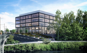 A visualisation of the proposed Dalmarnock office development