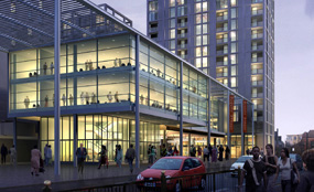 A visualisation of the Queens Market scheme