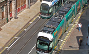 Nottingham: Tram system in place