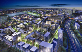 A visualisation of the Brent Cross Cricklewood scheme looking west