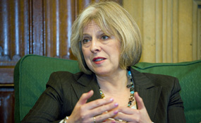 Home secretary Theresa May says it is time to 'stop tolerating' bad behaviour. Julian Dodd photo