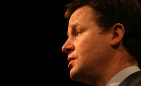 Clegg: the benefits of the green bank will be largely felt outside of London