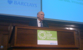 Business secretary Vince Cable speaking at the LEP Network conference