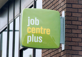 The unemployed are referred to charities by Job Centre Plus