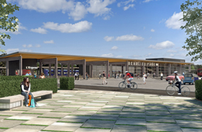 A visualisation of a new railway station in Chelmsford