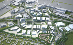 Airport City: A masterplan for the 32ha site envisages the creation of more than 7,000 jobs