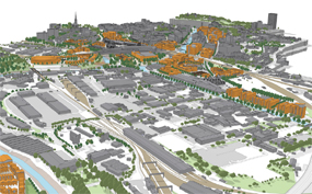 An artist's impression of how the enterprise zone might look (pic courtesy HCA)