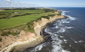 Clean-up operation: Durham's coastline was subjected to waste tipping by the coal industry for a century.