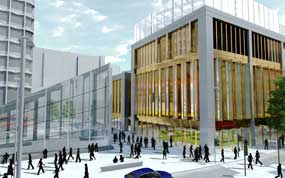 St Giles Circus: artist's impression of the redevelopment plans
