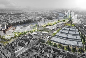Nine Elms: new business and residential quarter