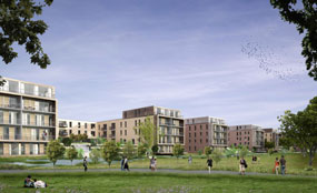 Missing out: A CGI of the Kidbrooke scheme in south-east London