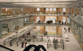 Plans for Battersea Power Station include turning the boiler house into a conference centre.