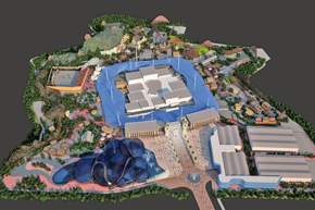 The proposals for a new theme park in the Swanscombe Peninsula, Kent