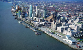 A CGI of the Liverpool Waters regeneration scheme