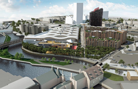 A Bromley-by-Bow development visualisation, which would be anchored by a new Tesco