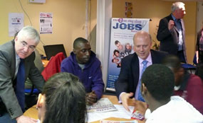 Lord Freud (left) and employment minister Chris Grayling mployment minister Chris Grayling and Lord Freud, minister for welfare reform, launch the Work Programme at charity Action Acton's job search centre in west London earlier this month.
