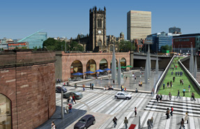 Plans approved by Salford and now by Manchester will revive the Greengate area as a public open space.
