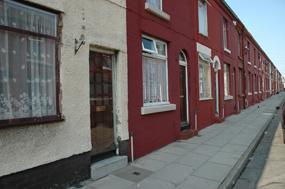 Run down street in Anfield