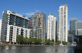 Canary Wharf...rising number of new homes