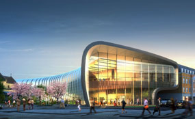 A CGI of plans for Slough's new library and cultural centre
