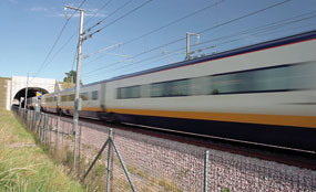 Some of the UK's key rail arteries are 'close to capacity', says the transport secretary.
