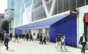A CGI of plans for Liverpool Street station