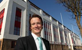 Change of tactics: Jonathan Murch, associate director at Savills, is advising Arsenal FC on the redevelopment of the football team's former Highbury home.