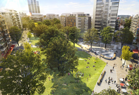 Elephant and Castle: artists visualisation of the plans
