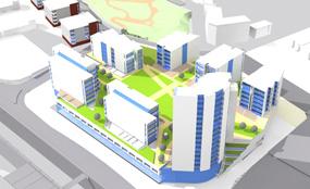 Plans for Parkside Central's retail quarter
