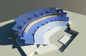 A visualisation of the plan for Leeds Arena