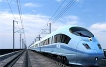 A visualisation of a high-speed rail train