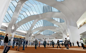 On track: The redevelopment of Birmingham New Street has escaped the cuts.
