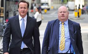 David Cameron and Eric Pickles