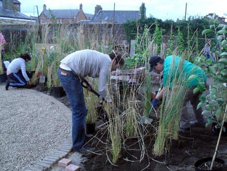 Girvan community garden, funded by the Big Lottery Fund