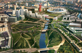 Olympic park: amongst 34 shortlisted entries