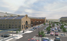 A CGI of plans for the 6ha former steelworks site in Stocksbridge