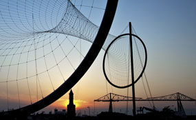 The Temenos sculpture at Middlehaven Dock in Middlesbrough designed by sculptor Anish Kapoor