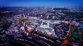 An artist's impression of how Westfield Shopping Centre in White City, London, will look following its planned expansion