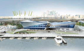 Visualisation of Siemens' planned exhibition centre