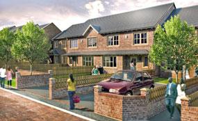 A CGI of Longfield Drive, Bradford