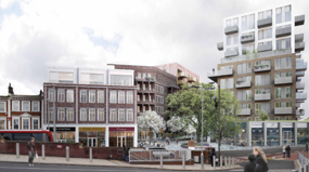 A visualisation of the St John's Hill Estate following its planned regeneration