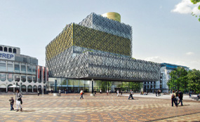 A visualisation of Birmingham central library